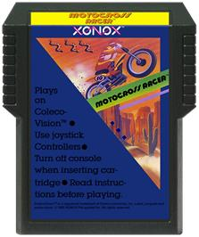 Cartridge artwork for Motocross Racer on the Coleco Vision.