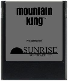 Cartridge artwork for Mountain King on the Coleco Vision.