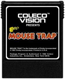Cartridge artwork for Mouse Trap on the Coleco Vision.