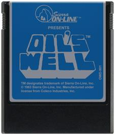 Cartridge artwork for Oil's Well on the Coleco Vision.