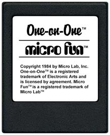Cartridge artwork for One on One on the Coleco Vision.