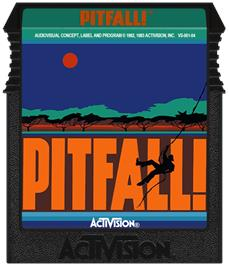 Cartridge artwork for Pitfall on the Coleco Vision.