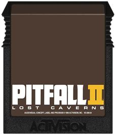 Cartridge artwork for Pitfall II on the Coleco Vision.