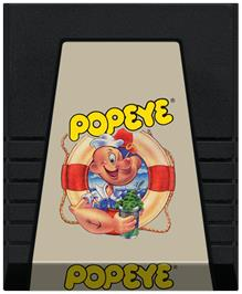 Cartridge artwork for Popeye on the Coleco Vision.