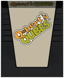 Cartridge artwork for Q*bert's Qubes on the Coleco Vision.