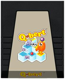 Cartridge artwork for Q*bert on the Coleco Vision.