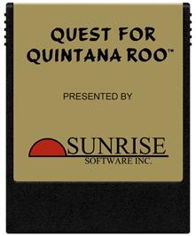 Cartridge artwork for Quest for Quintana Roo on the Coleco Vision.