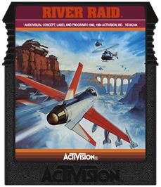 Cartridge artwork for River Raid on the Coleco Vision.