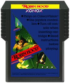 Cartridge artwork for Robin Hood on the Coleco Vision.