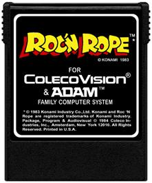 Cartridge artwork for Roc'n Rope on the Coleco Vision.