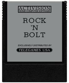 Cartridge artwork for Rock n' Bolt on the Coleco Vision.