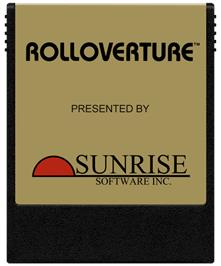 Cartridge artwork for Rolloverture on the Coleco Vision.