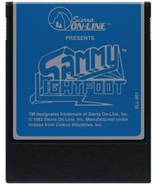 Cartridge artwork for Sammy Lightfoot on the Coleco Vision.