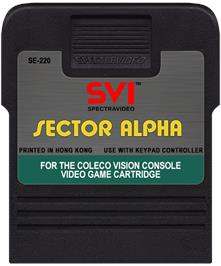 Cartridge artwork for Sector Alpha on the Coleco Vision.