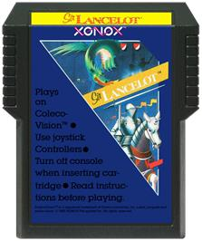 Cartridge artwork for Sir Lancelot on the Coleco Vision.
