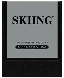 Cartridge artwork for Skiing on the Coleco Vision.