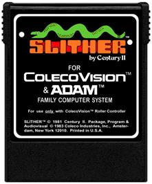 Cartridge artwork for Slither on the Coleco Vision.