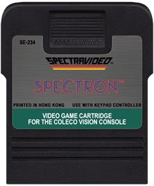 Cartridge artwork for Spectron on the Coleco Vision.