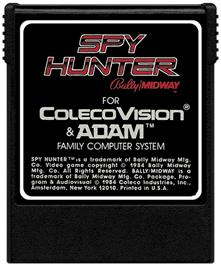 Cartridge artwork for Spy Hunter on the Coleco Vision.