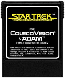 Cartridge artwork for Star Trek Strategic Operations Simulator on the Coleco Vision.
