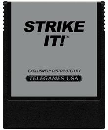 Cartridge artwork for Strike It on the Coleco Vision.