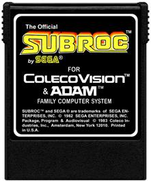 Cartridge artwork for Subroc on the Coleco Vision.
