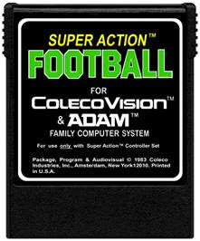Cartridge artwork for Super Action Football on the Coleco Vision.