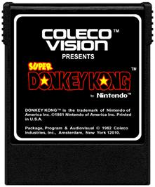 Cartridge artwork for Super DK on the Coleco Vision.