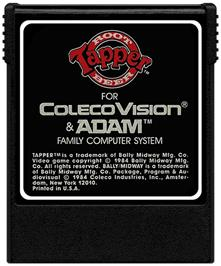 Cartridge artwork for Tapper on the Coleco Vision.