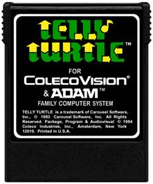 Cartridge artwork for Telly Turtle on the Coleco Vision.