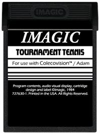 Cartridge artwork for Tournament Tennis on the Coleco Vision.