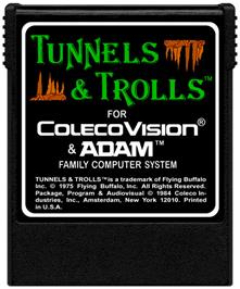Cartridge artwork for Tunnels & Trolls: Demo on the Coleco Vision.