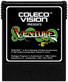 Cartridge artwork for Venture on the Coleco Vision.
