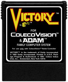 Cartridge artwork for Victory on the Coleco Vision.