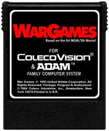 Cartridge artwork for War Games on the Coleco Vision.