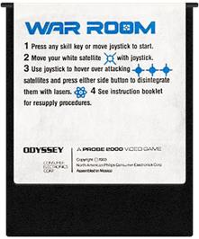Cartridge artwork for War Room on the Coleco Vision.