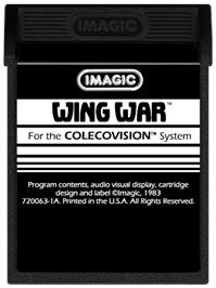 Cartridge artwork for Wing War on the Coleco Vision.