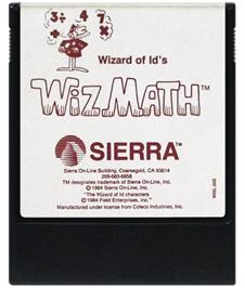 Cartridge artwork for Wizard of Id's Wizmath on the Coleco Vision.