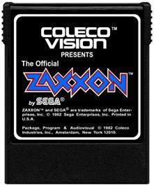Cartridge artwork for Zaxxon on the Coleco Vision.