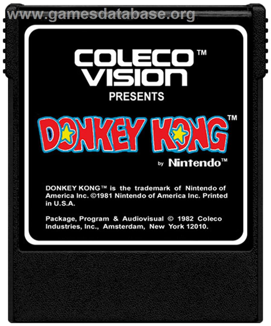 Donkey Kong - Coleco Vision - Artwork - Cartridge