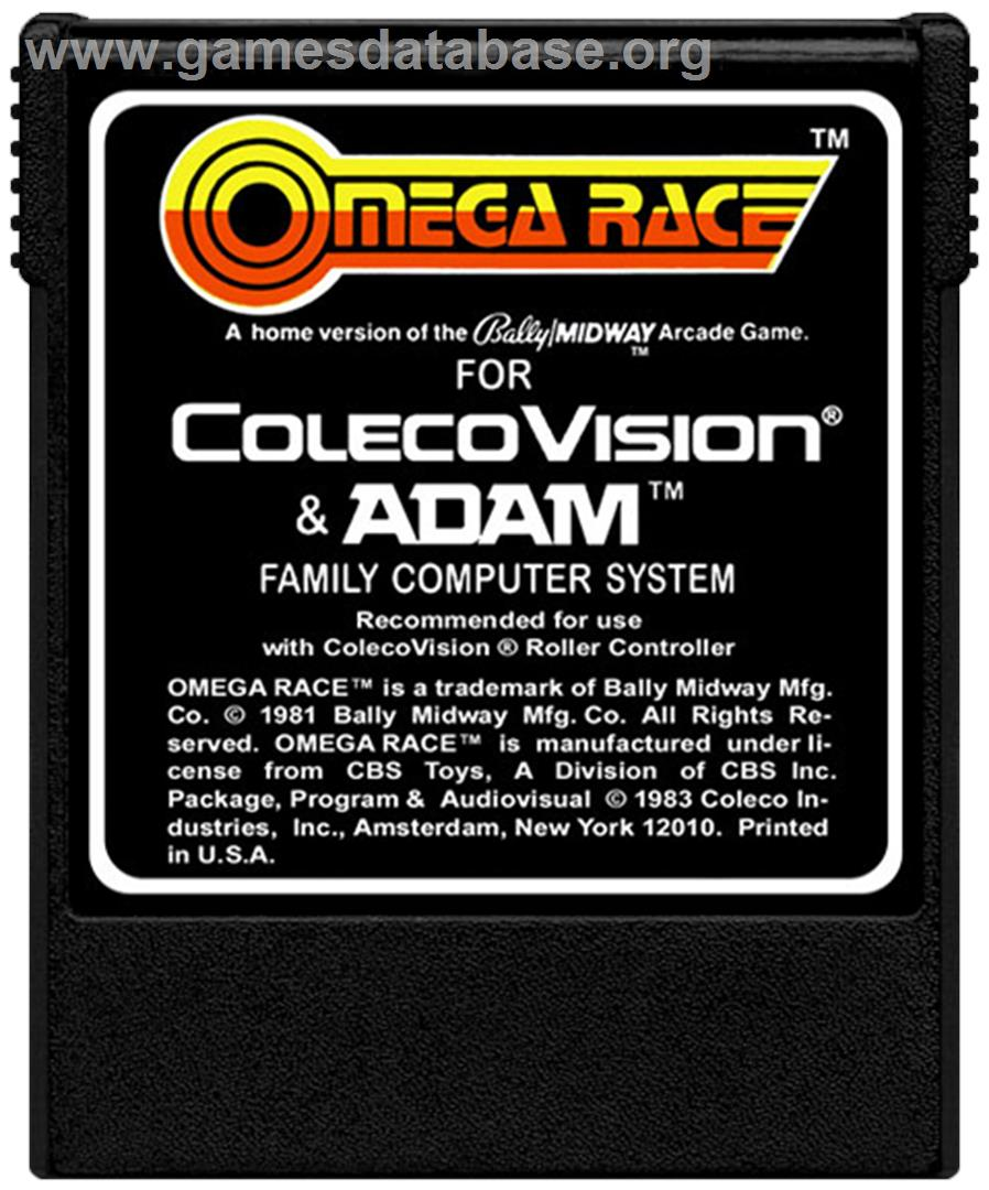 Omega Race - Coleco Vision - Artwork - Cartridge
