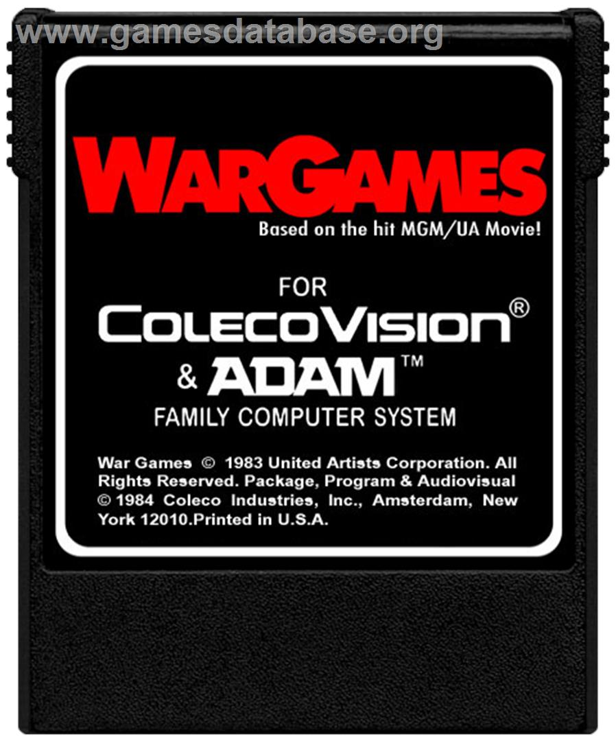 War Games - Coleco Vision - Artwork - Cartridge