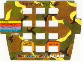 Overlay for Front Line on the Coleco Vision.