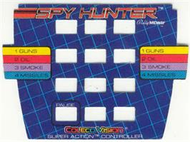 Overlay for Spy Hunter on the Coleco Vision.