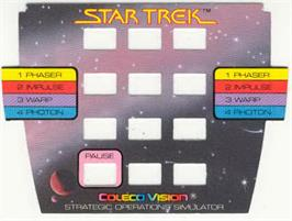 Overlay for Star Trek Strategic Operations Simulator on the Coleco Vision.