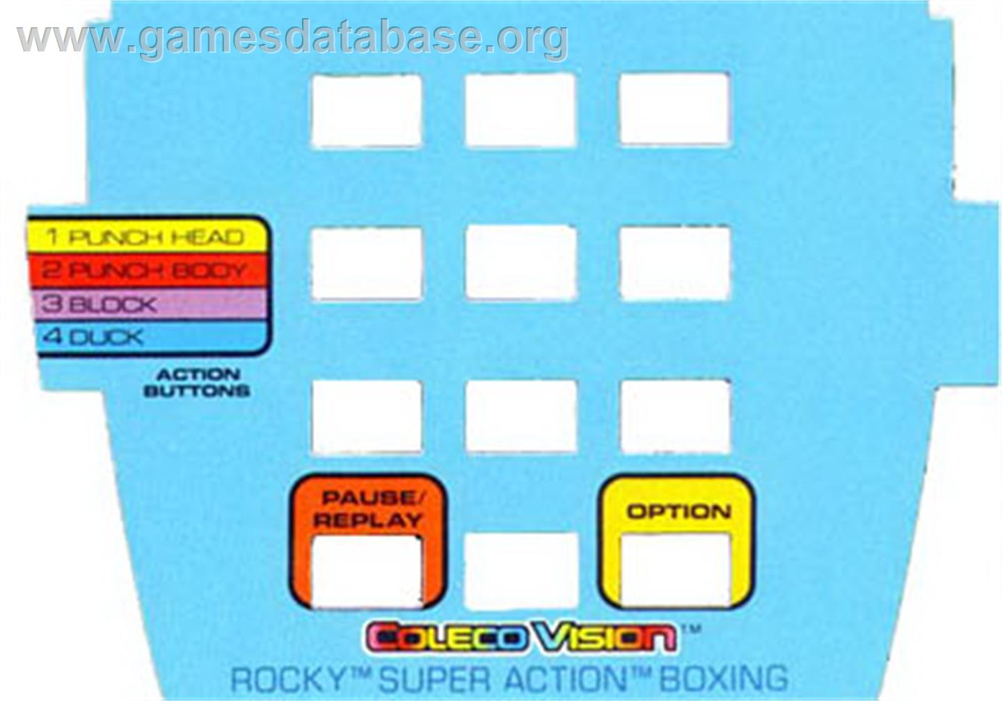 Rocky Super Action Boxing Coleco Vision Games Database