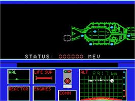 In game image of 2010: The Graphic Action Game on the Coleco Vision.