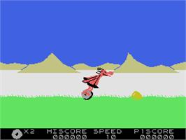 In game image of BC's Quest for Tires on the Coleco Vision.