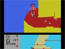 In game image of BC's Quest for Tires 2: Grog's Revenge on the Coleco Vision.