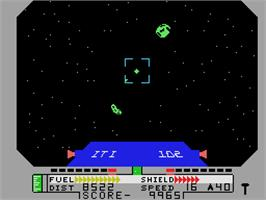 In game image of Blockade Runner on the Coleco Vision.